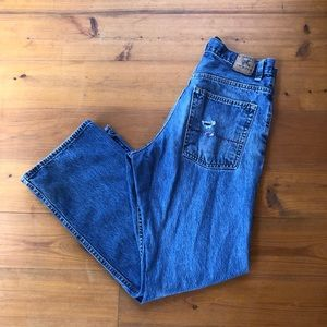 Tommy Hilfiger Mens Jeans 33x32 Straight Leg Blue